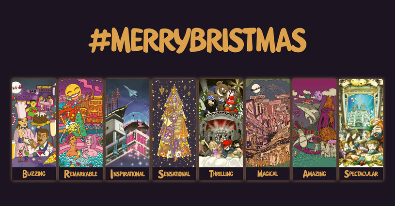 #MerryBristmas artwork by Bristol artists