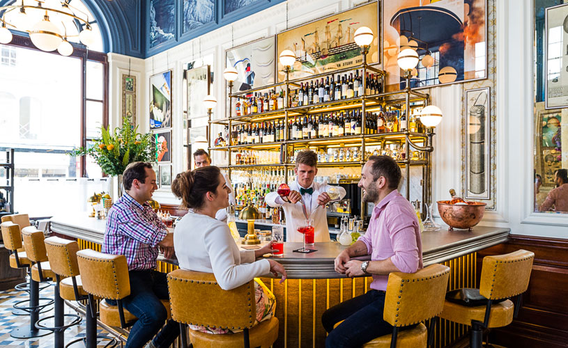 Colleagues meet for lunch at The Ivy Clifton Brasserie