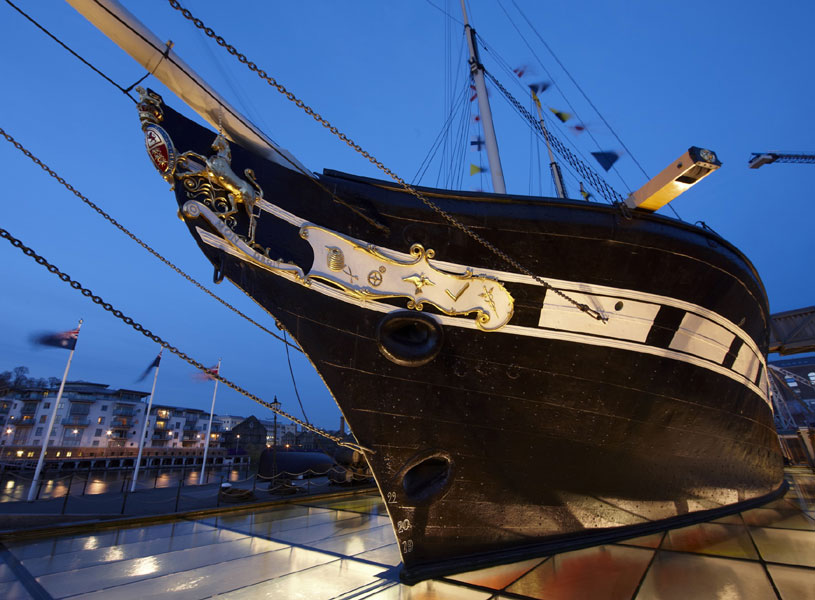 Brunel's SS Great Britain at night
