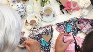 The bunting-making afternoon tea at Heartfelt Vintage