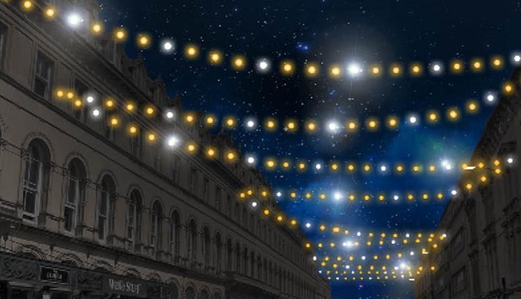 Traditional Christmas Lights.Traditional Christmas Lights On Bristol City Centre Visit