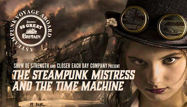 The Steampunk Mistress and the Time Machine on-board