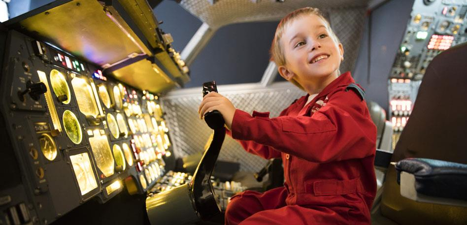 Bristol for Families: Child in Concorde - Credit Aerospace Bristol