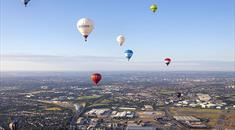 Hot air balloons over Bristol by Paul Box