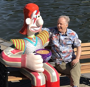 Interview with Nick Park on Gromit Unleashed 2 trail