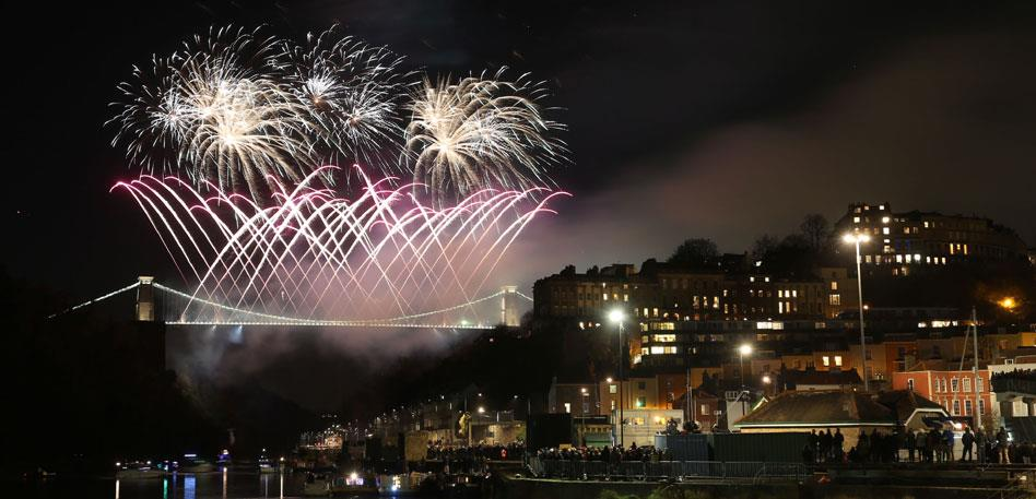 Clifton Suspension Bridge Fireworks - Image Paul Box
