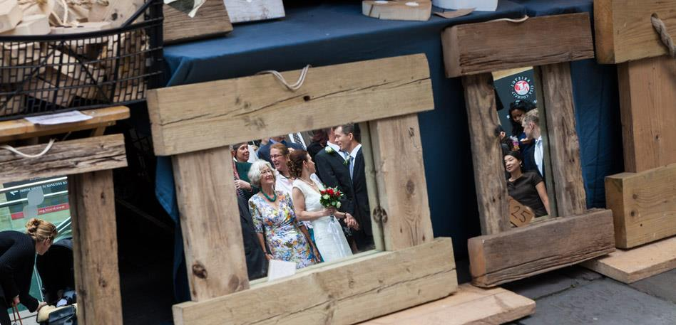 Wedding Venues in Bristol: Bride in Mirror. Credit Michael Fouracre