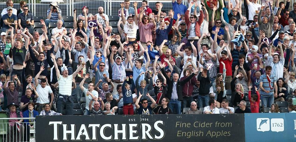 Crowds at Gloucestershire County Cricket Club