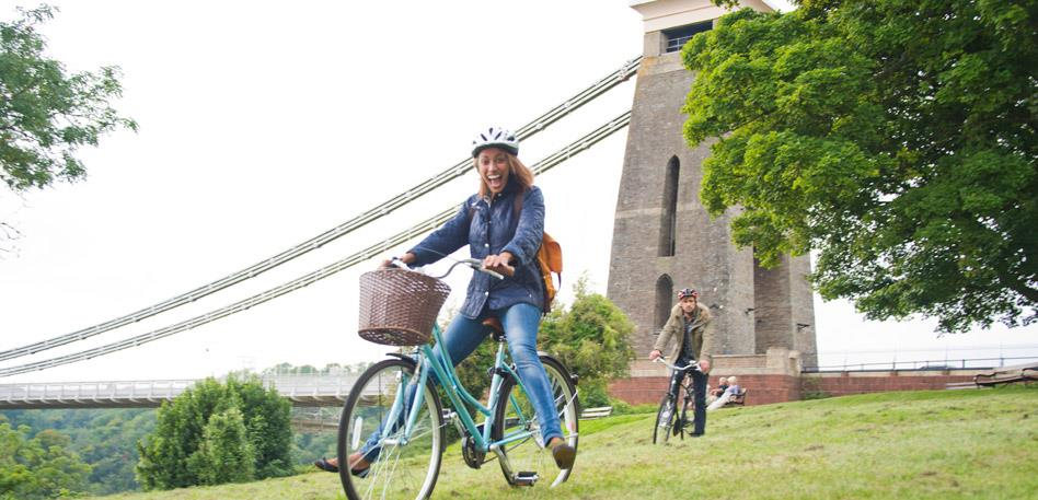 Cycle over the Clifton Suspension Bridge