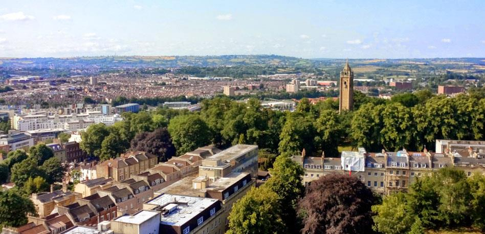 View from the top of Wills Memorial Building - Image Rachael Glendinning