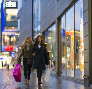 Shoppers in Cabot Circus