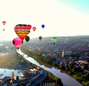 Dragon fire, balloon flotillas and flying high over Brunel's masterpieces – A hot air balloon ride over Bristol