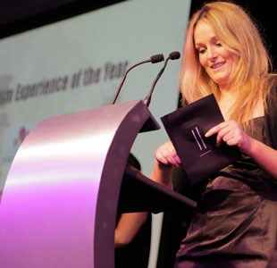Presenting awards at the Bristol Tourism and Hospitality Awards