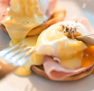 Eggs benedict from one of Bristol's restaurants
