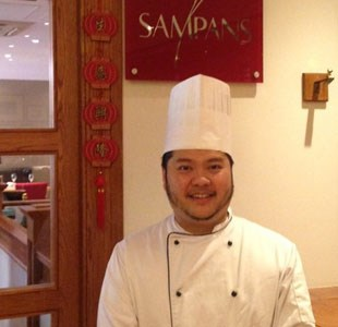 John Peeradej Head Chef at Sampans Restaurant, Holiday Inn Filton Bristol