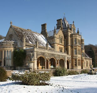 Tyntesfield in the snow