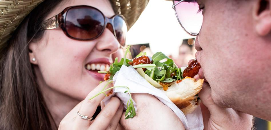 Sharing food at Grillstock Festival Bristol - Image Paul Box
