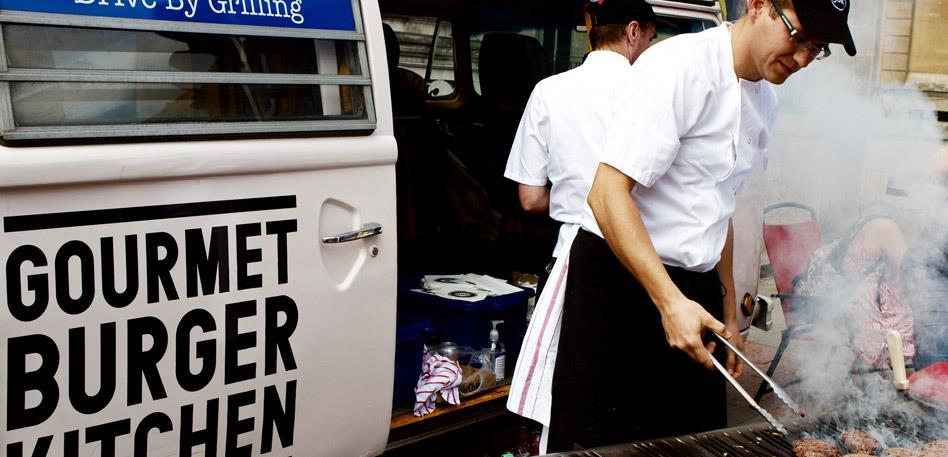 Gourmet Burger Kitchen van - Image Tom Glendinning