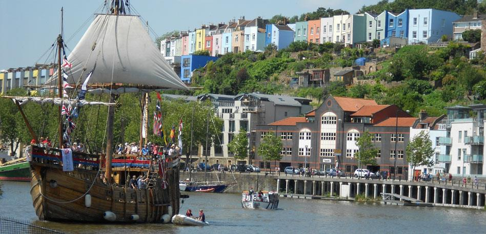 The Matthew sailing in Bristol Floating Harbour - Image Destination Bristol
