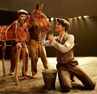 Actors during War Horse performance
