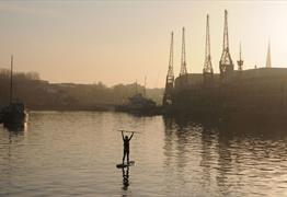 Paddleboarding in Bristol Harbour - M Shed