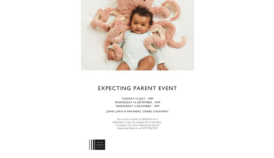 Expecting Parent Showcase at John Lewis & Partners
