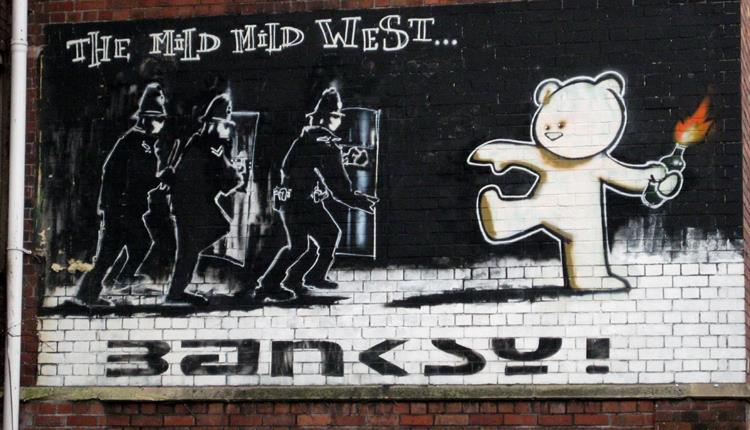 Banksy Graffiti Mild Mild West