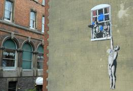 Banksy Grafitti Well-Hung Lover