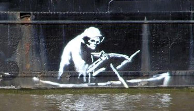 Banksy Graffiti The Grim Reaper Bristol