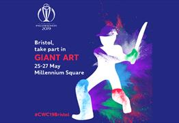 Take part in giant art for the ICC Cricket World Cup 2019