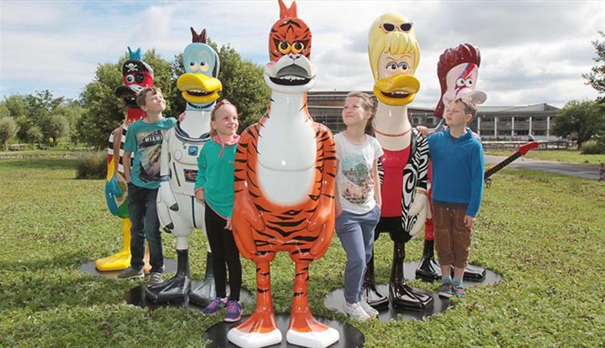 Celebrity Dusty Duck Trail at WWT Slimbridge Wetland Centre