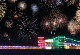 Fireworks at Sea at the Grand Pier