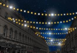 Traditional Christmas Lights on Bristol City Centre