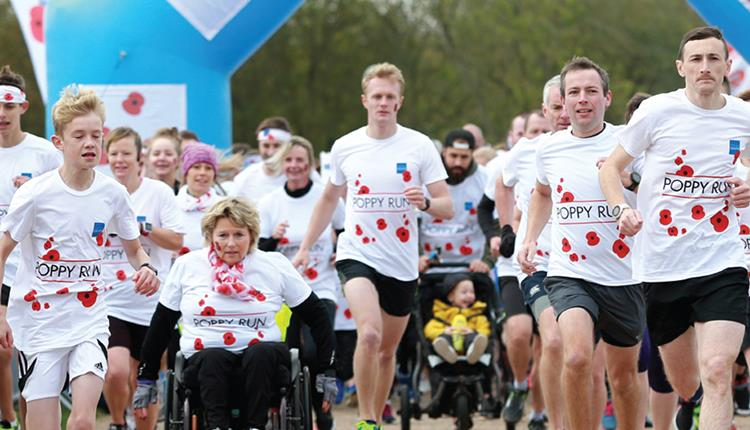 Poppy Run for the Royal British Legion at Ashton Court