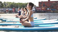 Practice yoga on the water with SUP Bristol