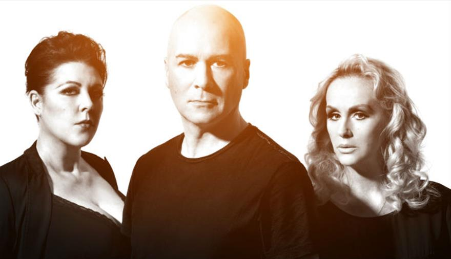 Human League live after racing at Bath Racecourse
