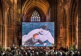 The Snowman with live orchestra at Salisbury Cathedral