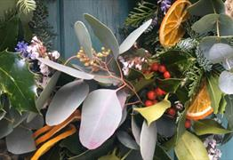 Wreath making workshop at Psychopomp Micro-distillery