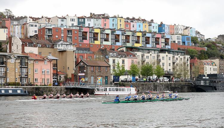 Varsity Boat Race Bristol v UWE on the Harbourside