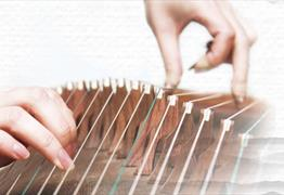 Live Chinese instrument Guzheng performance at Cathay Rendezvous