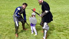 Gallant Knights Fight It Out at Berkeley Castle
