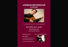 Andreas Moutsioulis in Concert at the Bristol Music Club