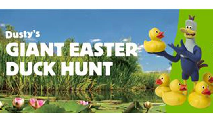 Dusty's Giant Easter Duck Hunt at WWT Slimbridge Wetland Centre