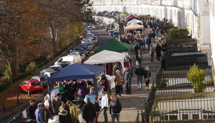 Christmas Fayre on Royal York Crescent Promenade