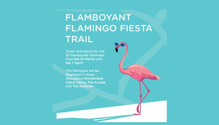 Easter Flamingo Trail in Bristol Shopping Quarter