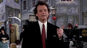 Scrooged on the We The Curious Big Screen